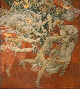 John S. Sargent. Orestes perseguido por las Furias