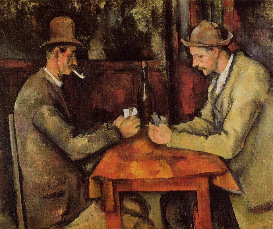Los jugadores de cartas de Cézanne