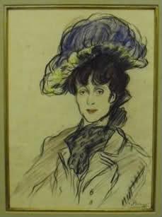 La Femme Au Chapeau Bleu
