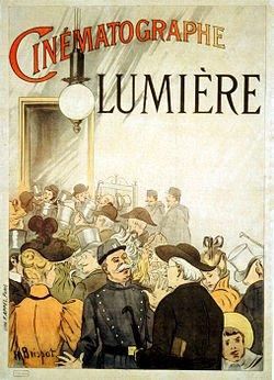 Cartel de la primera proyección de los hermanos Lumiére
