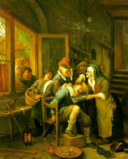 La extracción de la piedra de Jan Steen