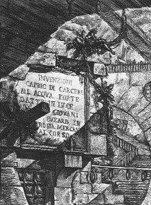 Carceri d'invenzione, portada de la segunda versión de 1760
