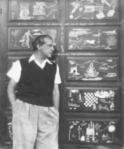 El joven Rafael Alberti, en su casa La Gallarda, durante su exilio en Uruguay en 1947