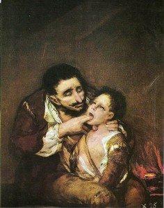 El garrotillo (El Lazarillo de Tormes), Francisco de Goya