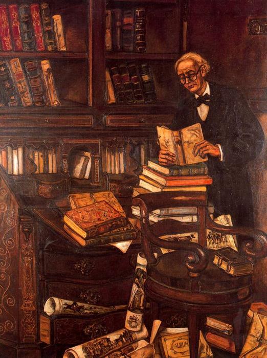 El bibliófilo de José Gutiérrez Solana