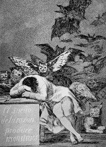 El sueño de la razón produce monstruos, de Goya