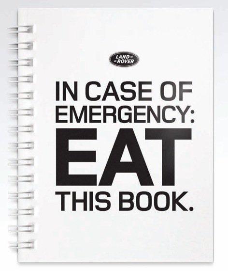 En caso de emergencia cómete este libro