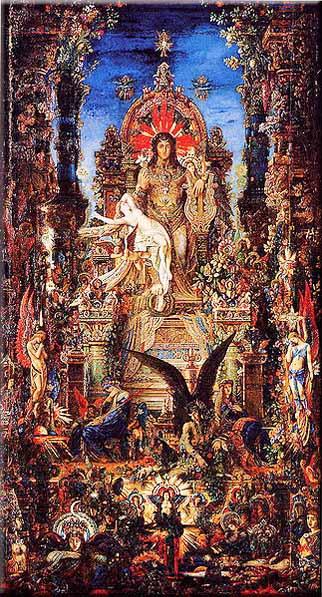 Júpiter y Sémele de Gustave Moreau