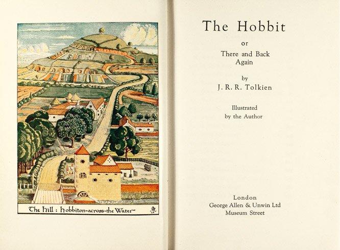 1ª edición de El Hobbit de Allen & Unwin de 1937