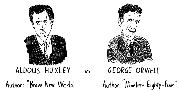 Aldous Huxley vs George Orwell