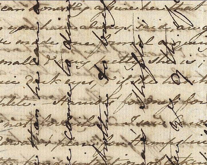 Escritura cruzada de Jane Austen