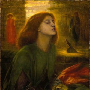 Beata Beatrix, pintado un año después de su muerte