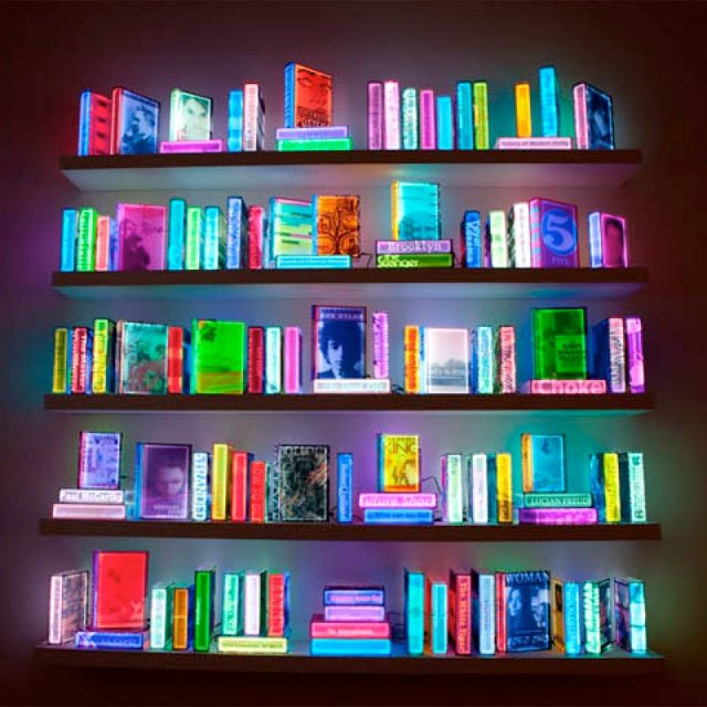 Biblioteca iluminada