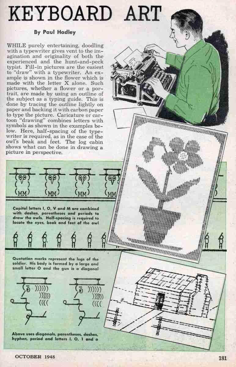 Arte ASCII de los años 40