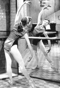 Audrey en clases de ballet
