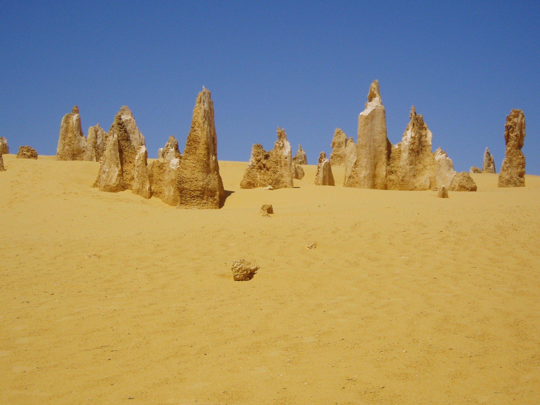 El árido desierto de los Pináculos