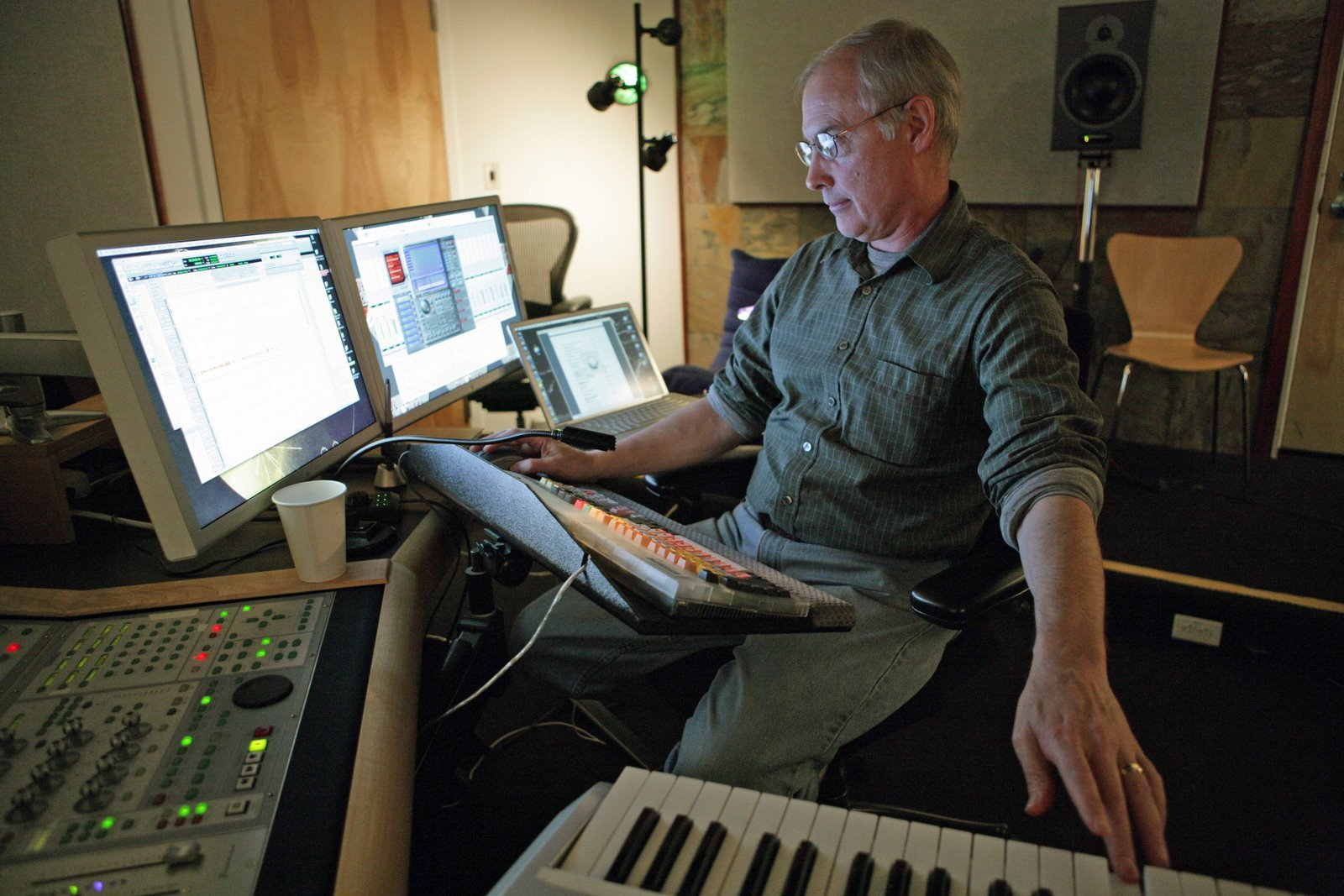 Ben Burtt creando sonidos para Wall-E