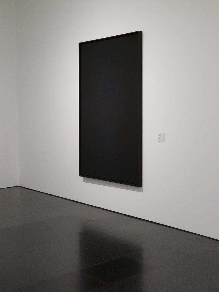 Pintura negra de Ad Reinhardt