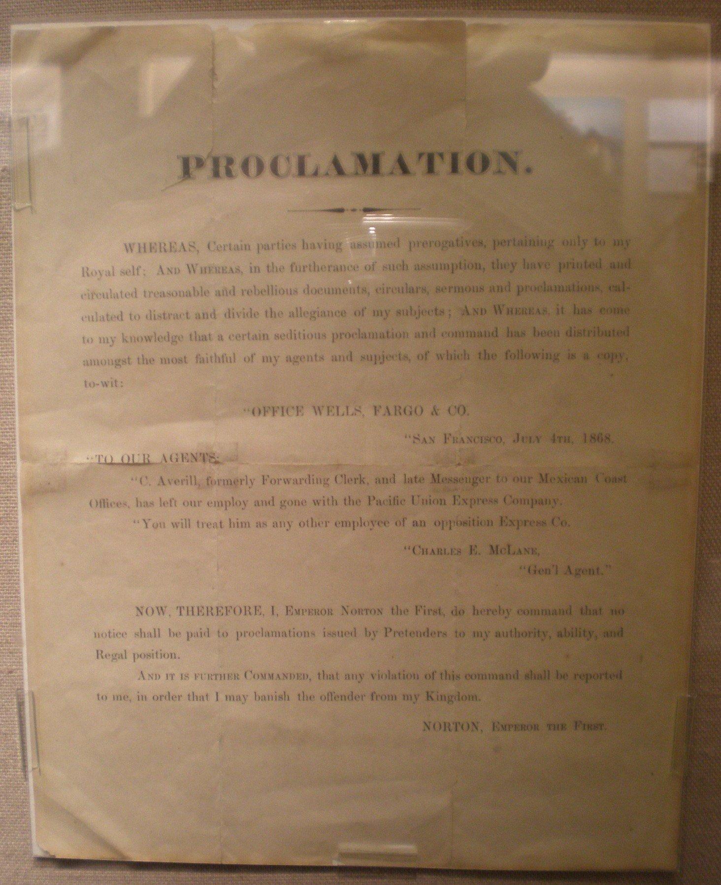 Uno de los decretos de Norton I