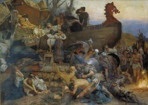 Entierro de Ígor por Henryk Siemiradzki