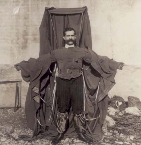 Franz Reichelt y su paracaídas