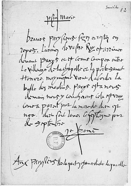 Carta de Juana de Arco falsificada por Vrain-Lucas