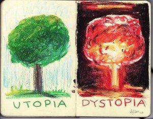 Dibujo de Dylan Glynn «Utopia/dystopia»