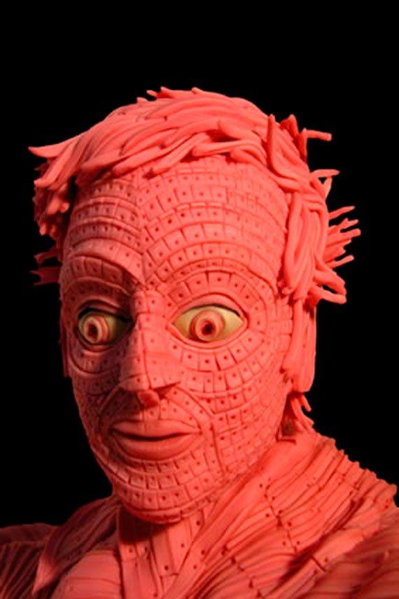Escultura de chicle