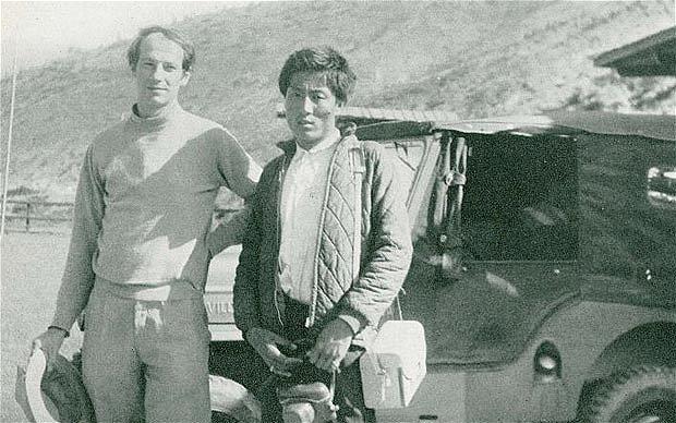 Peissel y su acompañante Tashi