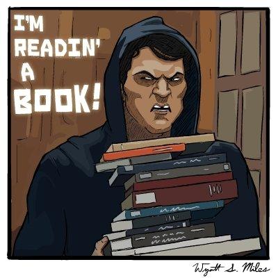 I´m readin´a book!