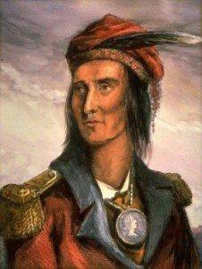 Un retrato de Tecumseh de 1848