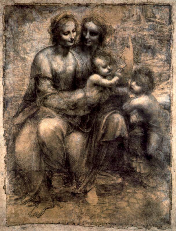 La Virgen y el Niño con Santa Ana y San Juan el Bautista de da Vinci