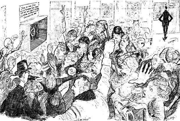 Autorretrato de Caricatura de Hugh Troy