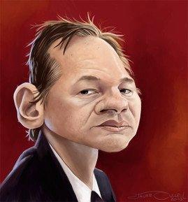 Caricatura de Julian Assange de Jaume Cullell Fernandez