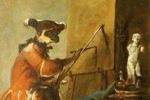 El mono pintor de Jean-Simeon Chardin
