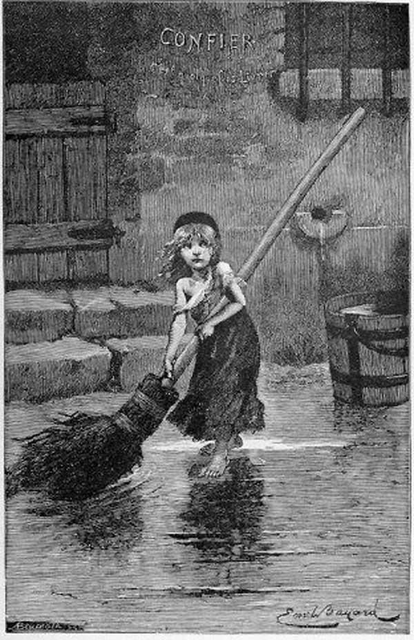 Cosette por Émile Bayard en la 1ª edición de Los Miserables