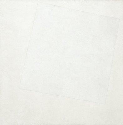Cuadrado blanco sobre fondo blanco