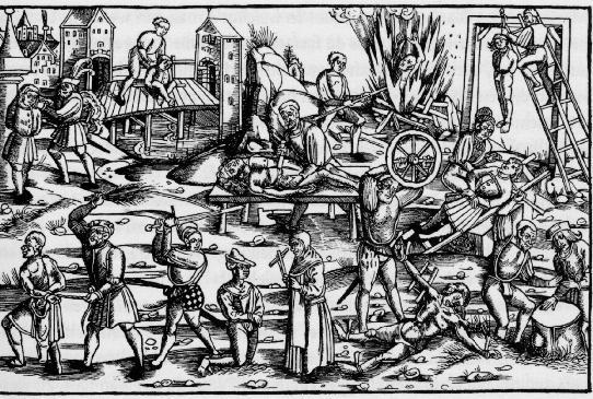 Grabado de la Santa Inquisición