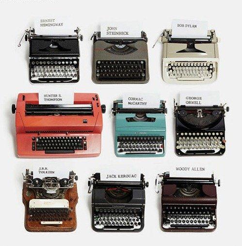Máquinas de escribir de grandes escritores