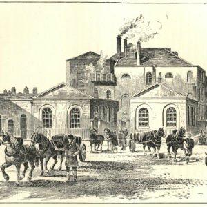 Cervecería Horse Shoe, en 1830Cervecería Horse Shoe, en 1830