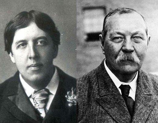 Oscar Wilde y Arthur Conan Doyle