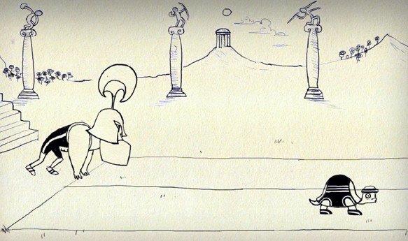 Paradoja de Aquiles y la tortuga según Open University