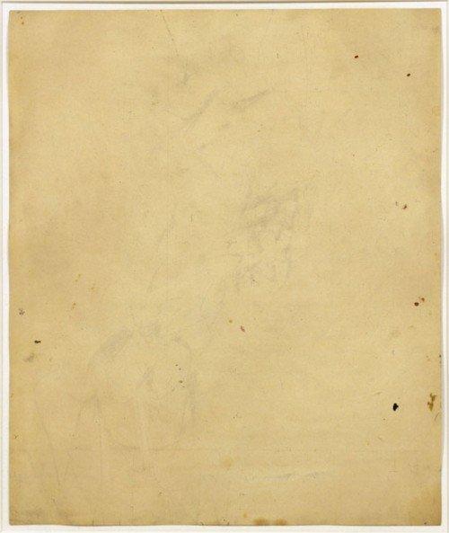 Dibujo borrado de Kooning