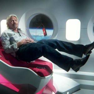 Richard Branson en una campaña publicitaria. ¿Futuro cercano?