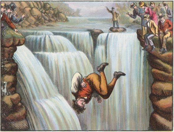 Las maravillosos saltos de Sam Patch, ilustración