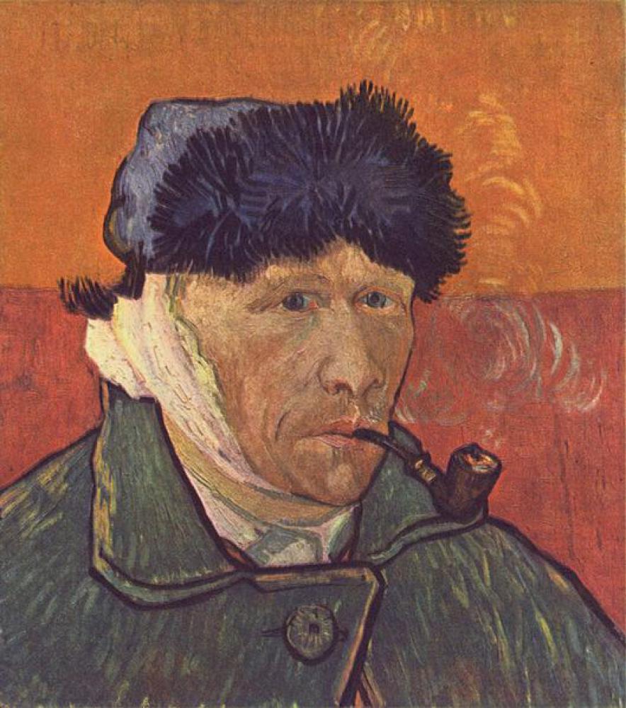 Autorretrato de Van Gogh sin oreja de 1889