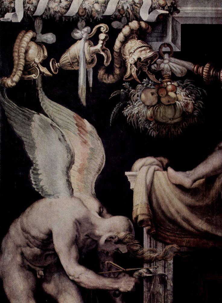 Kairos en un fresco de Francesco Salviati