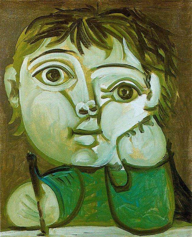 Niño escribiendo (Claudel) de Picasso
