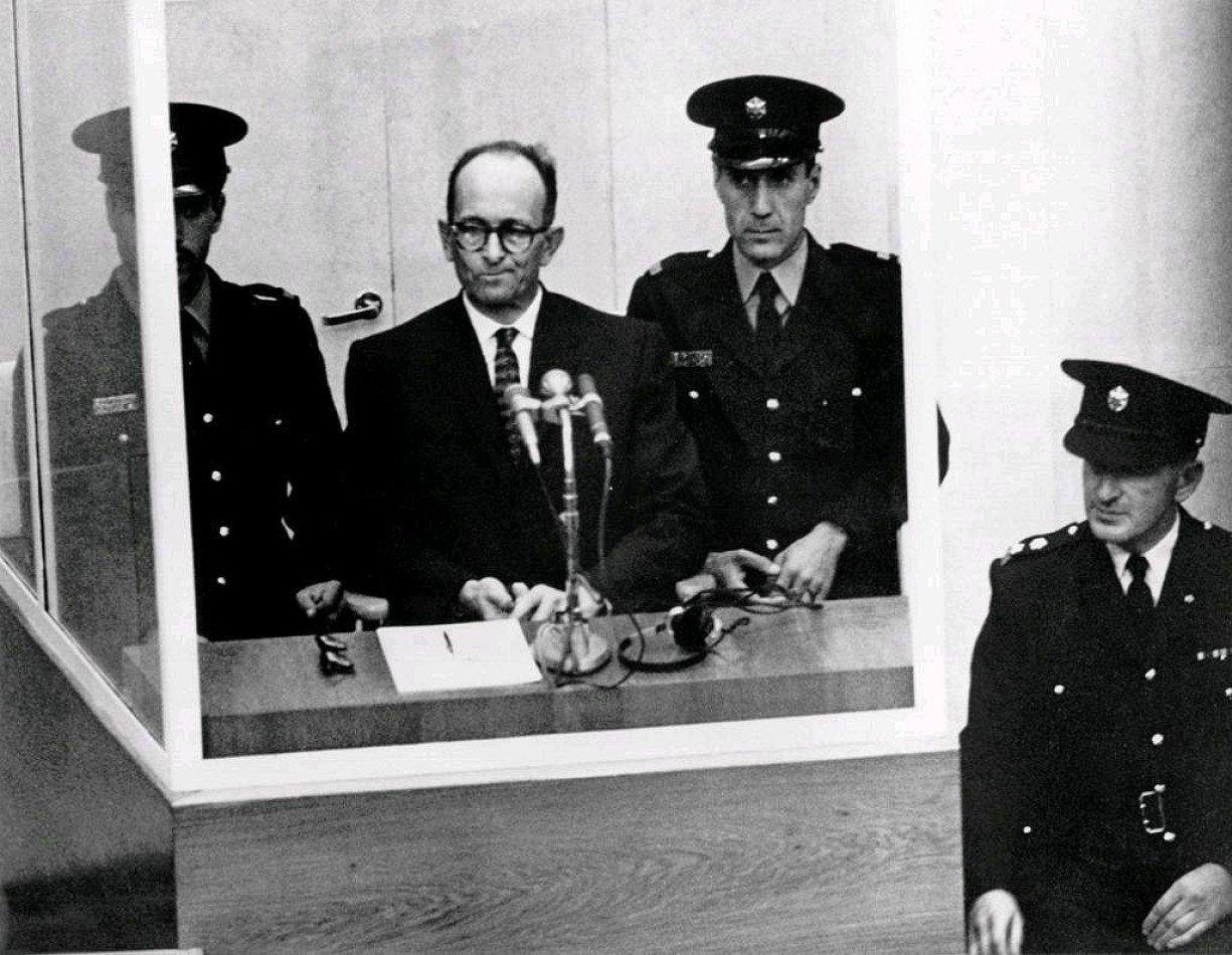 Adolf Eichmann en el juicio