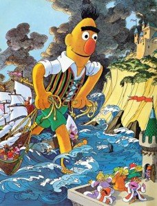 Blas como Gulliver en la versión de Barrio Sésamo